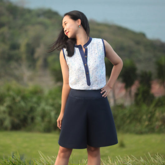 Style Maker Fabrics Spring Canvas Blog Tour - Mila Shirt & Emily Culottes