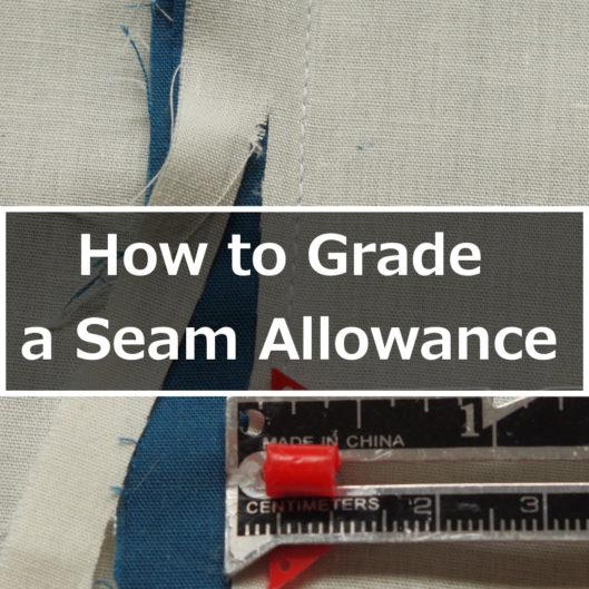How to grade a seam allowance
