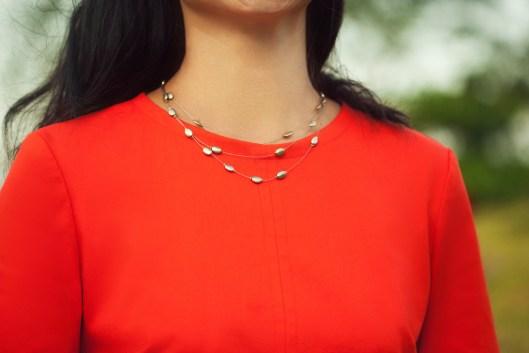 Itch to Stitch Sirena Dress PDF Sewing Pattern Sleeve Flounce Option - Close Up Front