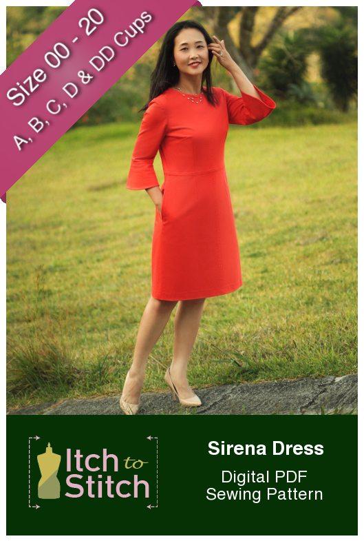 Itch to Stitch Sirena Dress PDF Sewing Pattern