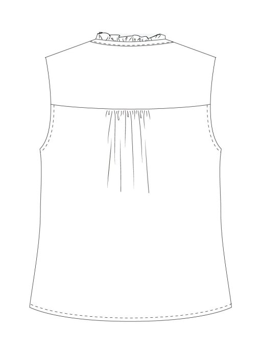 Itch-to-Stitch-Vienna-Tank-PDF-Sewing-Pattern-View-A-Back-Line-Drawing
