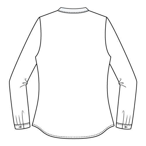 Bonn Shirt & Dress PDF Sewing Pattern - Shirt Length Back