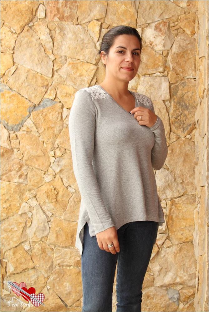 Arenal Top Sewing Pattern Tester Photo