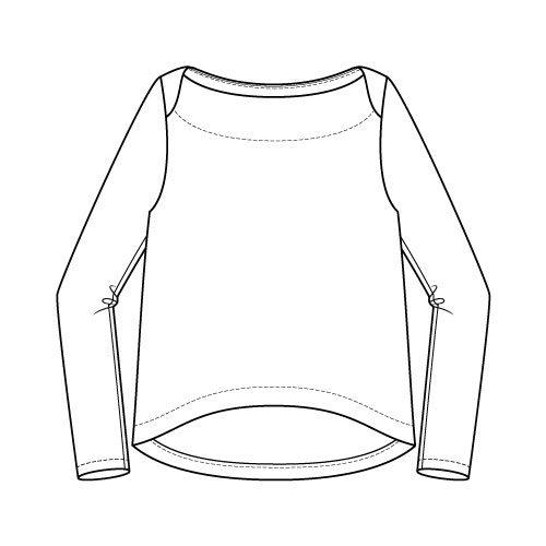 Newport Top Sewing Pattern Regular Long Sleeve Option - Front