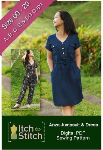 Itch to Stitch Anza Jumpsuit & Dress Sewing Pattern