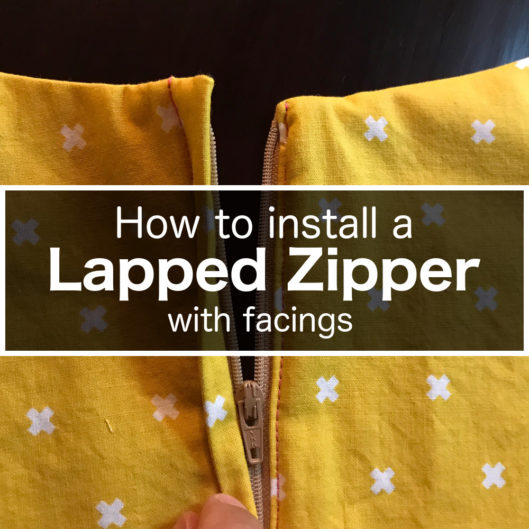 How to install a Lapped zipper with facings