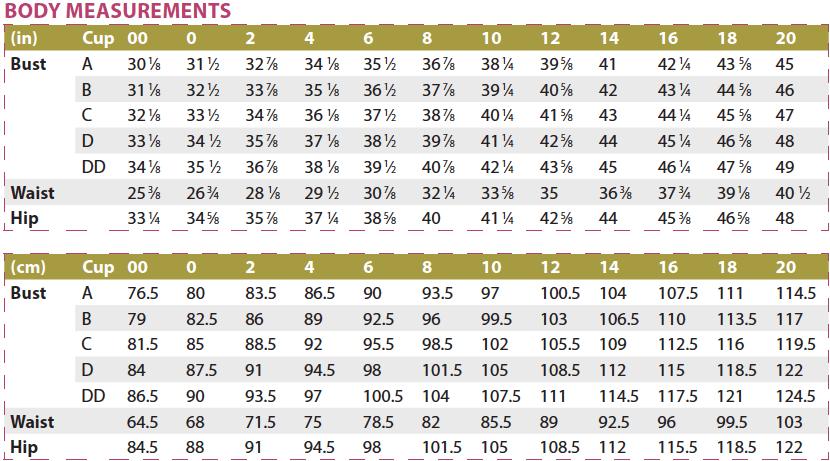 Chai Shirt and Dress PDF Sewing Pattern Body Measurements