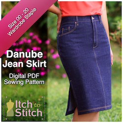 Danube Jean Skirt PDF Sewing Pattern