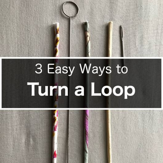 How to turn loops - spaghetti straps, button loops, waist ties, shoe laces