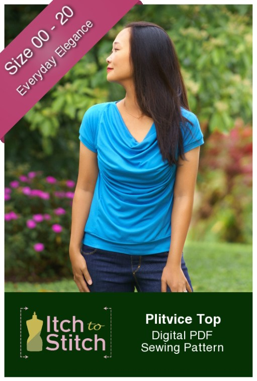 Itch to Stitch Plitvice Top PDF Sewing Pattern
