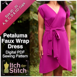 Petaluma Faux Wrap Dress PDF Sewing Pattern
