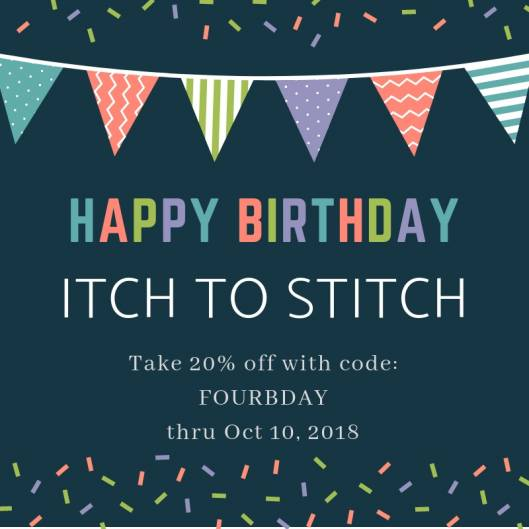 Itch to Stitch Birthday Celebration