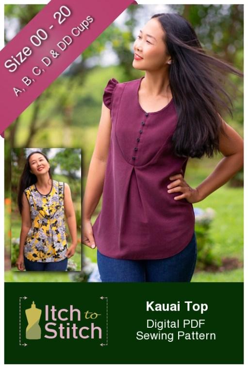 Itch to Stitch Kauai Top PDF Sewing Pattern