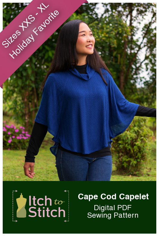 Itch to stitch Cape Cod Capelet PDF Sewing Pattern