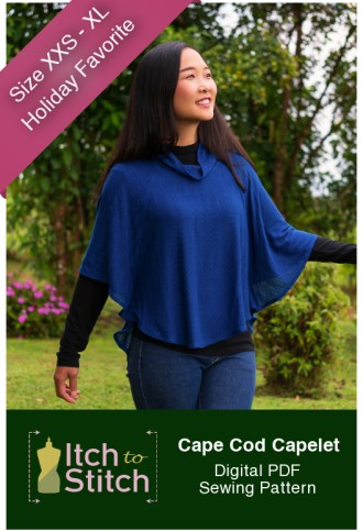 Itch to stitch Cape Cod Capelet PDF Sewing Pattern