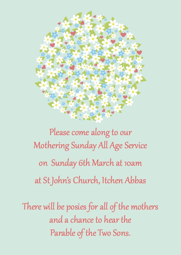 mothering sunday all age service