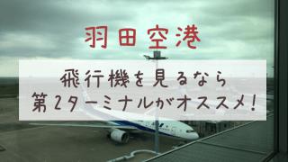 羽田空港で飛行機を見るなら第2ターミナルがオススメ!子どもと一緒に行ったレビュー