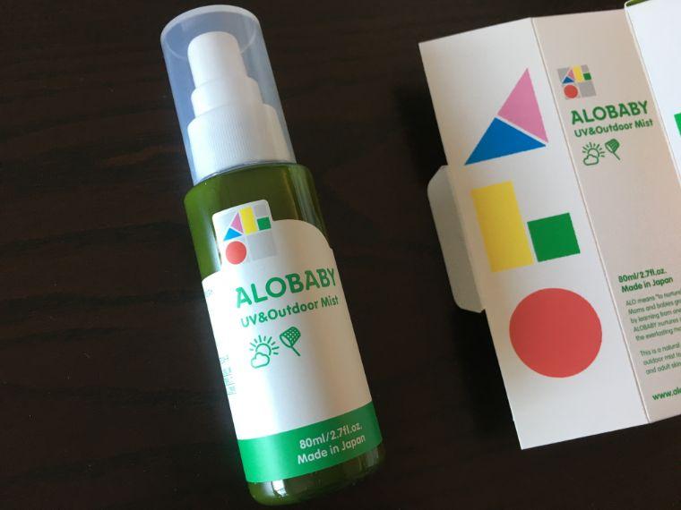 ALOBABY UV & アウトドアミストのパッケージ
