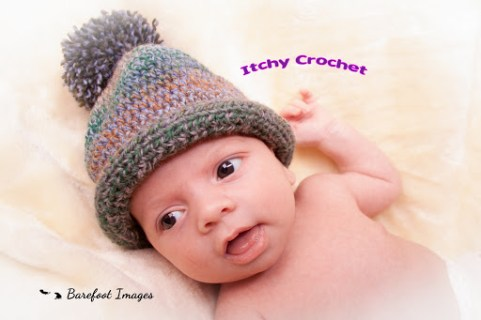 New born baby bobble hat
