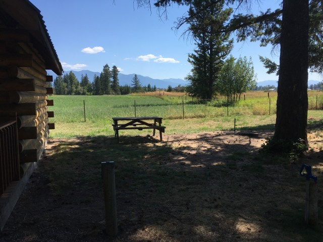 Table and field next to site