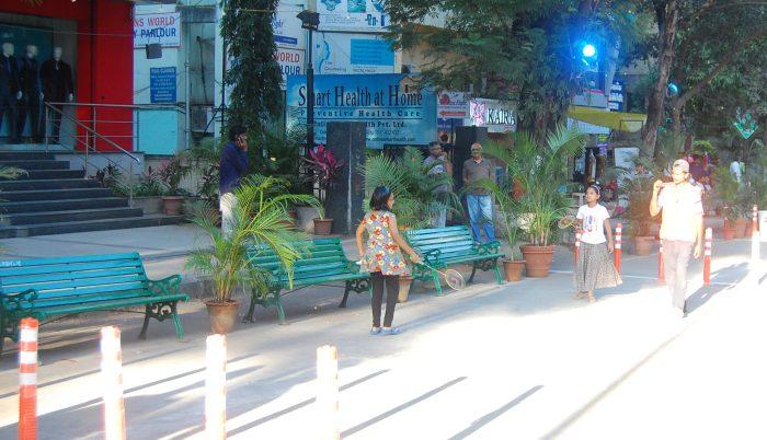 Children play badminton Aundh