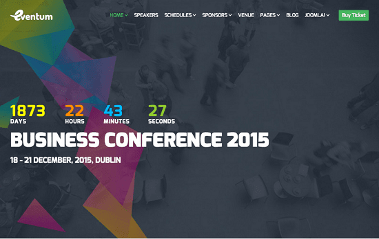 Top 10 Joomla Event and Conference Templates - ITDwebdesign.com