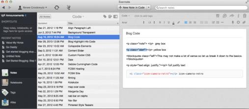 Blogging Tip on saving html code for sidebars