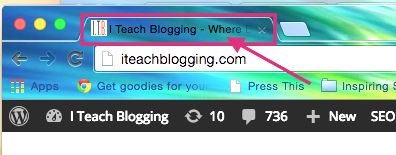 Setup WordPress site title