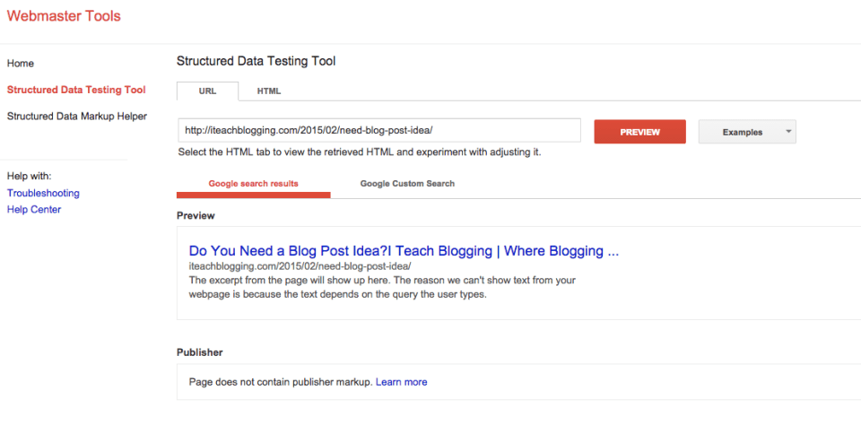 How does your blog title look on Google