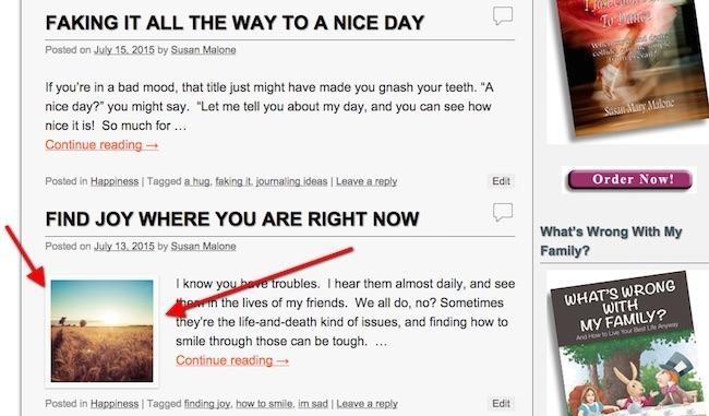 Featured image WordPress