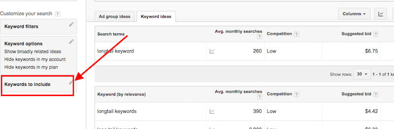 Google Keyword Tool research tips