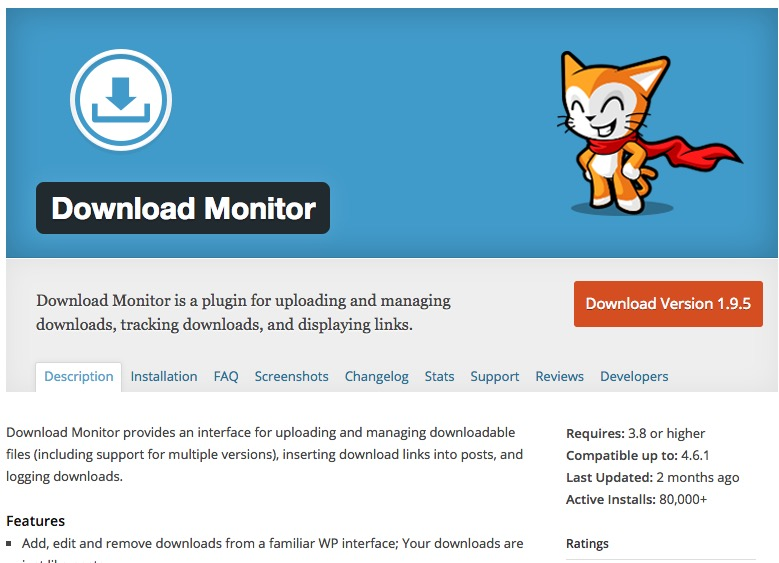 WordPress Plugin managing downloads