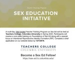 Become a Sex-Ed Fellow: Apply for Free Teacher Training on Sex Education