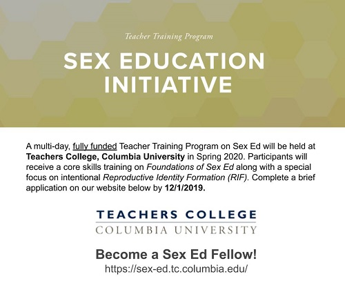 Sex Education Initiative Teacher Training Program Graphic