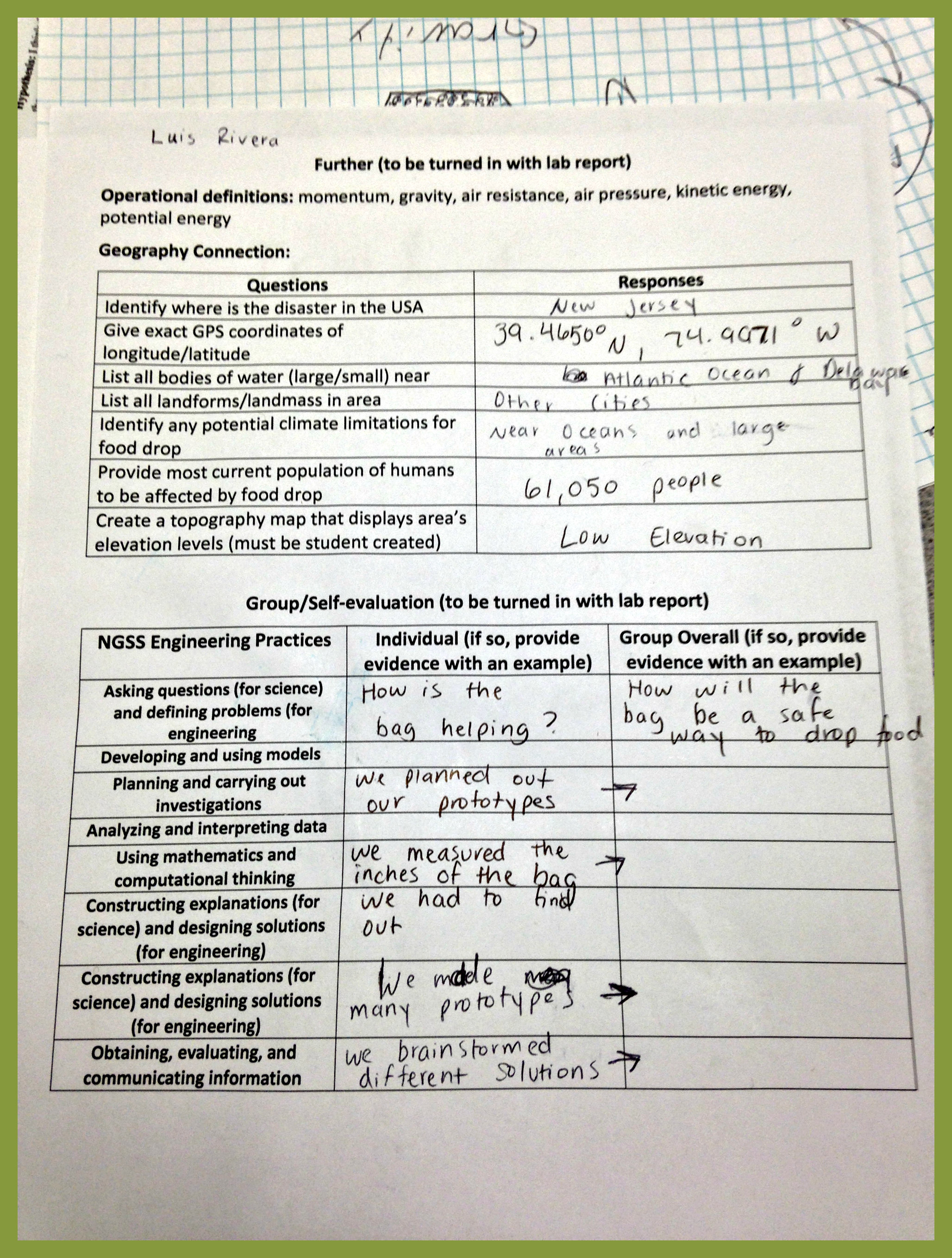 Ngss Worksheet
