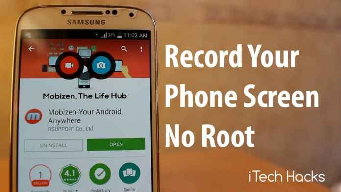 Screen Recording Apps without root android 2016