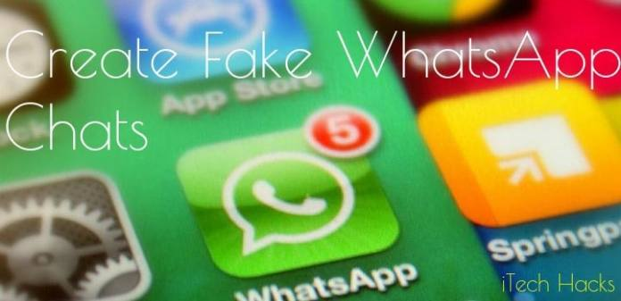 Create Fake WhatsApp Chat From Android phone 2016