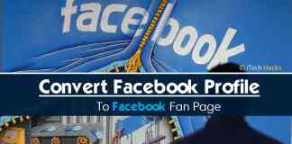 How To Convert Facebook Profile To Facebook Page 2017