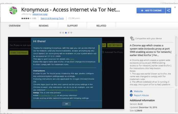 - kronymous 1 - (#2 Ways) Access/Use TOR Network On Google Chrome Browser