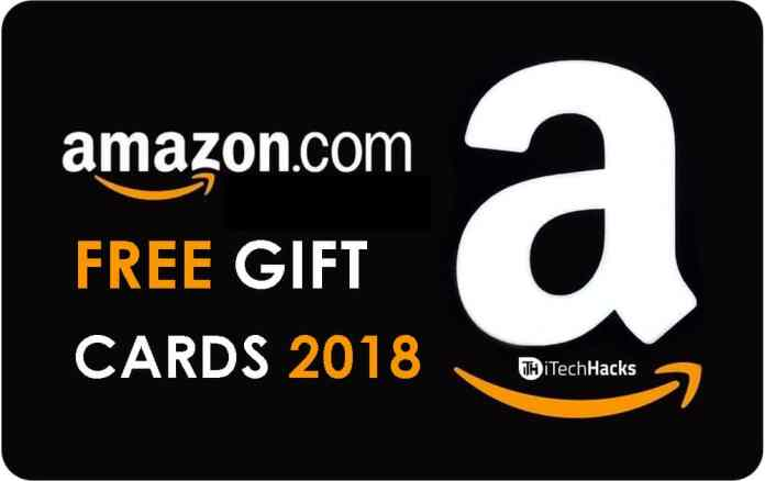 Free Amazon Gift Cards of 2018
