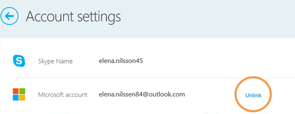 Account Setting Skype
