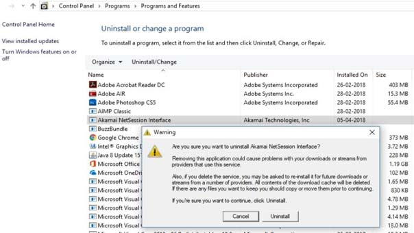 Steps to Uninstall Akamai Netsession from Windows