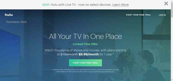 Activate Hulu 30-days Premium Trail Pack