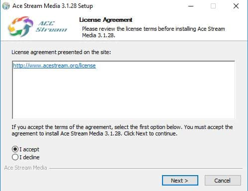 AceStream on your Windows
