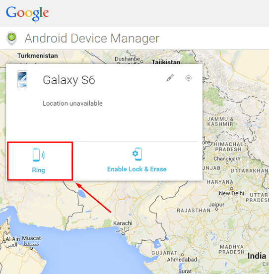 Locate and Ring Lost Samsung S6