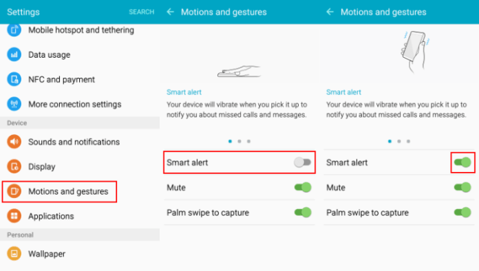 Enable Smart Alert instead of LED Notifications on Galaxy phones