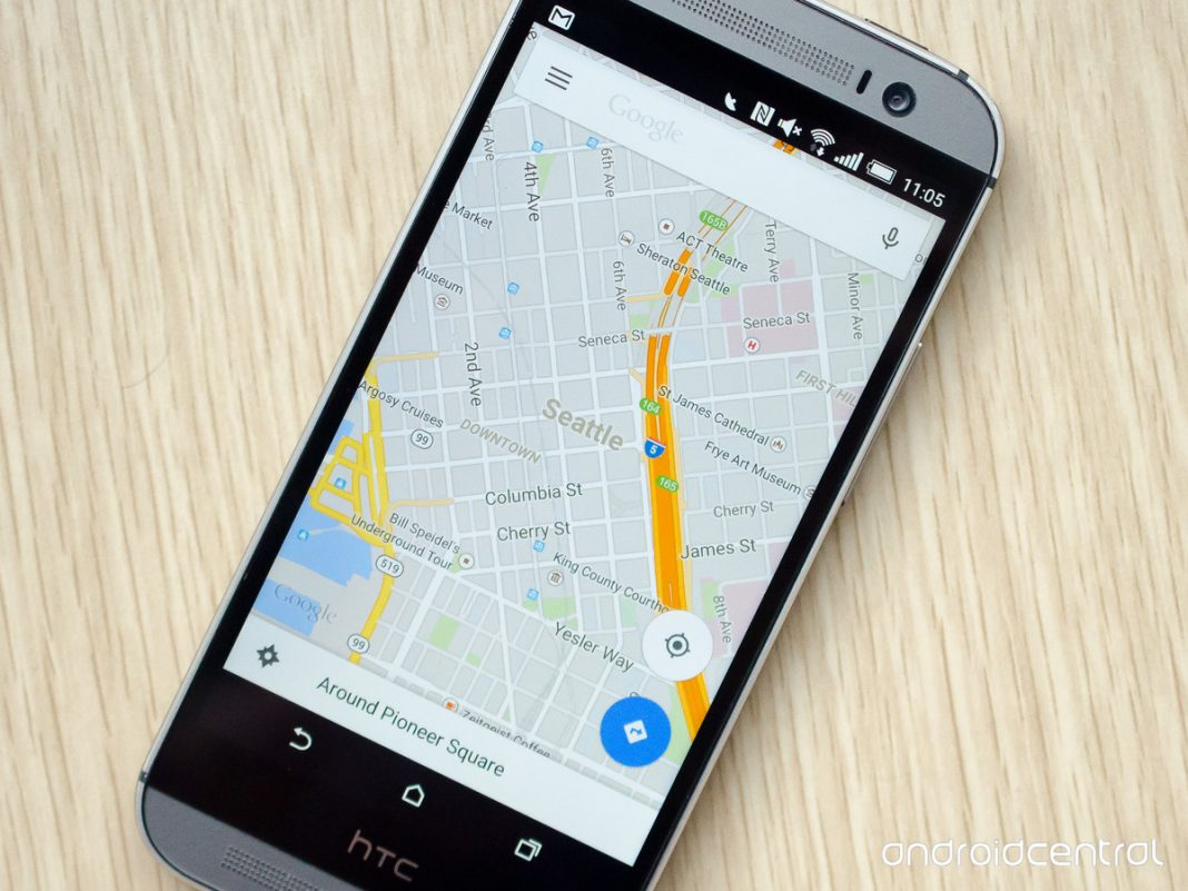 on download google map to phone