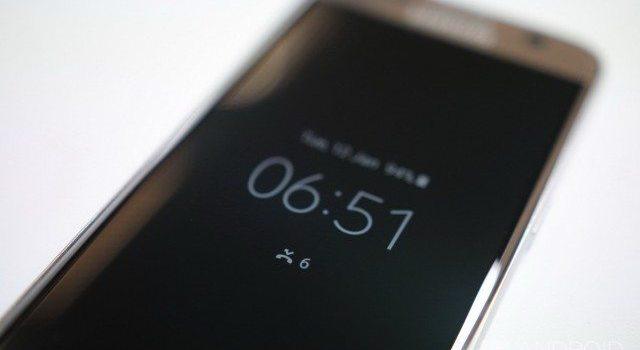 Always on feature on Galaxy S6