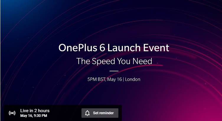 How to Watch OnePlus 6 Launch Event Live
