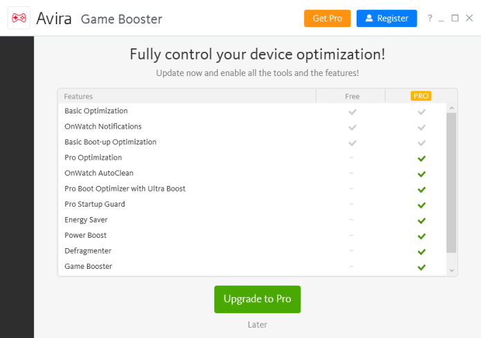 Avira Game Booster Ultra